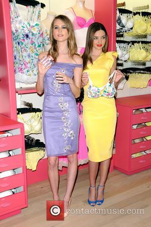 Behati Prinsloo and Miranda Kerr - Victoria's Secret Angels Launch