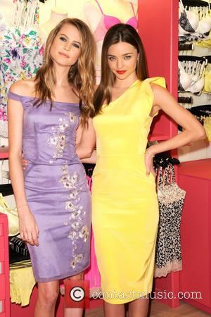 Behati Prinsloo and Miranda Kerr - Victoria's Secret Angels launch the 'Fabulous' collection at the Herald Square Store - New...