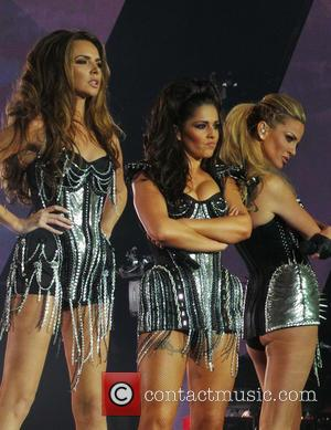 Girls Aloud, Nadine Coyle, Cheryl Cole and Sarah Harding - Girls Aloud performing live in concert on their '10' tour...