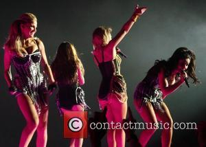 Girls Aloud, Cheryl Cole and Sarah Harding - Girls Aloud performing live in concert on their '10' tour at the...