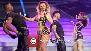 Girls Aloud, Kimberley Walsh and Nicola Roberts - Girls Aloud performing live in concert on their '10' tour at the...