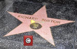 Richard Burton - Richard Burton is honoured with a Hollywood...