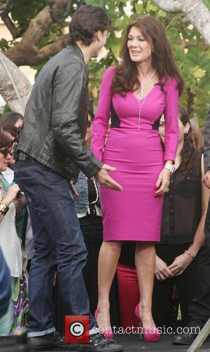 Lisa Vanderpump and Gleb Savchenko - Celebrities at The Grove to appear on entertainment news show 'Extra' - Los Angeles,...