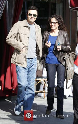 Seth MacFarlane - Actor Seth MacFarlane and a friend leave a cafe after having lunch together in Beverly Hills -...