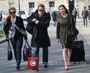 Eddie Izzard - Eddie Izzard arrives at Trinity College to receive the Burke medal from The College Historical Society -...
