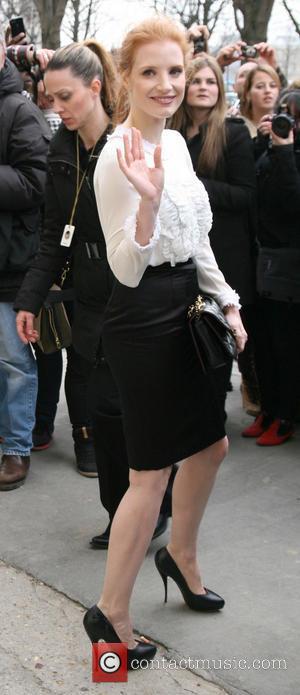 Jessica Chastain - Paris Fashion Week - Autumn/Winter 2013 - Chanel - Arrivals - Paris, France - Tuesday 5th March...