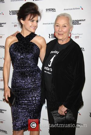 Carla Gugino and Rosemary Harris - Roundabout Theatre Company's Spring Gala held at the Hammerstein Ballroom - New York City,...