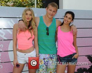 Elsa Hosk, Alexander Ludwig and Sara Sampaio - Victoria's Secret PINK brings the ultimate spring break dance party to Miami...