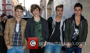 George Shelley, Jaymi Hensley, Josh Cuthbert, JJ Hamblett and Union J - Celebrities arrive at the BBC Radio 1 studios...