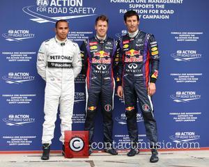 Lewis Hamilton, Sebastian Vettel and Mark Webber - Formula One 2013 Australian Grand Prix - Second Qualifying Session - Melbourne,...