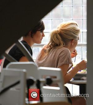 Mollie King and Frankie Sandford - The Saturdays are seen in Bayswater after a TV appearance and  enjoy lunch...