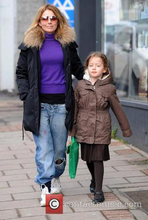 Geri Halliwell and Bluebell Halliwell - Celebrities on the school run - London, United Kingdom - Monday 18th March 2013