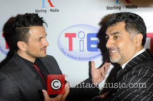 Peter Andre and James Cann