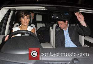 Frankie Sandford and Wayne Bridge - Frankie Sandford from girl group The Saturdays enjoys a night out at Amika nightclub...
