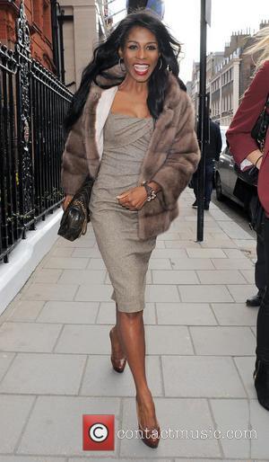 Sinitta - The Health Lottery reception with Simon Cowell held at Claridge's - Outside Arrivals - London, United Kingdom -...