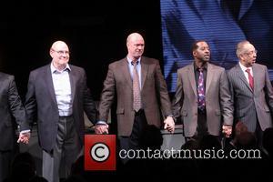 Richard Masur, Michael Gaston, Courtney B. Vance and George C. Wolfe