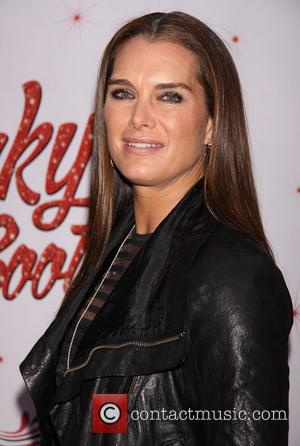 Brooke Shields - Celebrities attend the Broadway premiere of 'Kinky Boots' at the Hirschfeld Theatre-Arrivals -  New York City,...