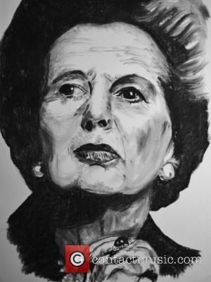 Margaret Thatcher - Portrait of Baroness Margaret Thatcher using coal