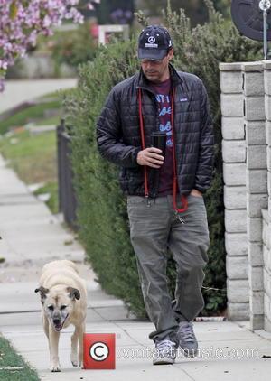 Jon Hamm - 'Mad Men' star Jon Hamm walks his...