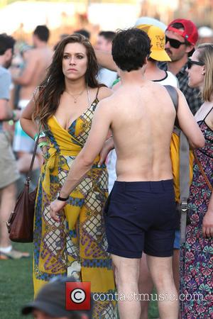 Darren Criss and Mia Swier - Celebrities at the 2013 Coachella Valley Music Festival Week 1 Day 2 - Indio,...