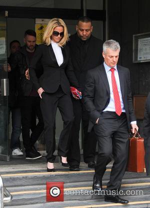 Sarah Harding - Sarah Harding leaves Highbury Magistrates' Court