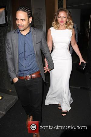 Kimberley Walsh and Justin Scott - Kimberley Walsh and Justin Scott leave Nobu Berkeley - London, United Kingdom - Monday...