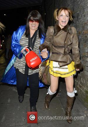 Geri Halliwell - Keith Lemon's 40th birthday party at Gilgamesh - Departures - London, England, United Kingdom - Saturday 27th...