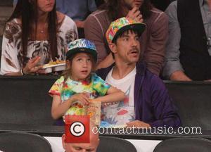 Anthony Kiedis - Celebrities watch the Los Angeles Lakers play...