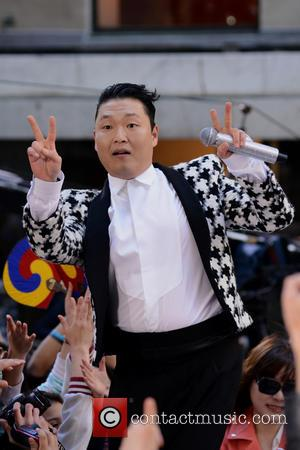 Park Jae-sang - South Korean rapper PSY performing live at...