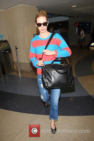 January Jones - January Jones at LAX
