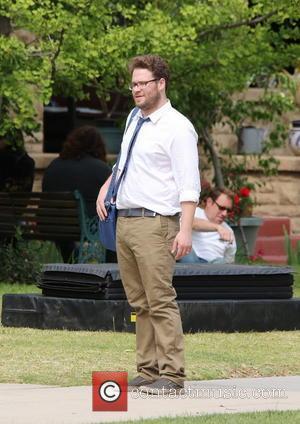 Seth Rogen - Townies film set