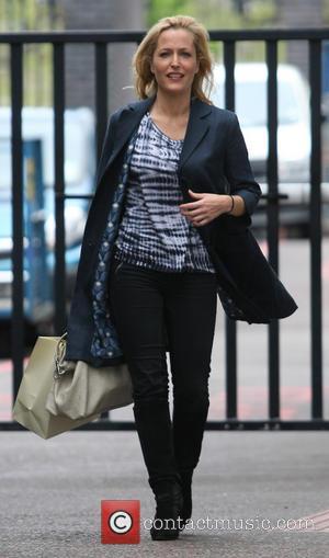 Gillian Anderson - Celebrities Leaving the ITV Studios - London, United Kingdom - Friday 10th May 2013