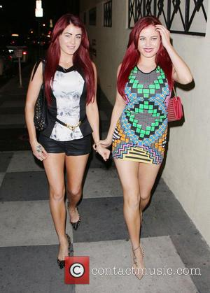 Melissa Howe and Carla Howe - The Howe Twins outside Teddy's Nightclub at the Hollywood Roosevelt Hotel - Los Angeles,...