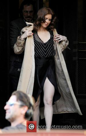 Amy Adams - The cast of 'American Hustle' filming scenes on location in Manhattan - New York City, NY, United...