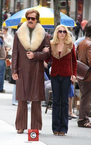 Will Ferrell - Anchorman: The Legend Continues' film set