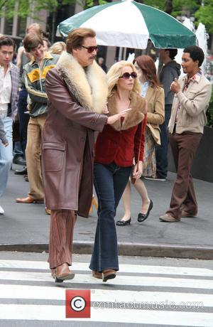 Will Ferrell - Anchorman: The Legend Continues' film set
