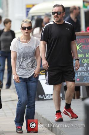 Ricky Gervais - Comedian Ricky Gervais and his partner Jane...