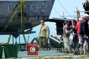 John Goodman - George Clooney and John Goodman filming 'The Monuments Men' on location in Rye - Sussex, United Kingdom...