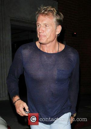 Dolph Lundgren - Dolph Lundgren and his girlfriend Jenny Sandersson leaving Mr. Chow in Beverly Hills - Los Angeles, California,...