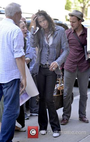 Steven Tyler and Aerosmith - Aerosmith frontman Steven Tyler arrives at his Manhattan hotel - New York City , NY,...