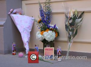 James Gandolfini - James Gandolfini memorial in front of his...