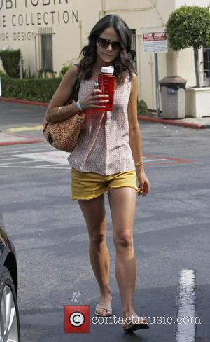 Jordana Brewster - Jordana Brewster running errands wearing yellow shorts - Los Angeles, CA, United States - Sunday 30th June...