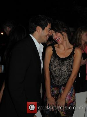 Eli Roth and Lucila Sola - Ischia Global Fest 2013 -  Day 3 - at Gala Dinner at restaurant...