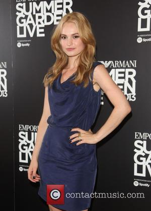 Lily James - Emporio Armani Summer Garden Live 2013 - Arrivals - London, United Kingdom - Tuesday 16th July 2013
