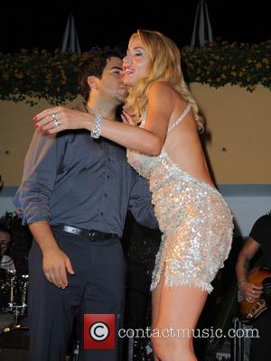 Eli Roth and Valeria Marini - Ischia Global Fest 2013 at Gala Dinner - Ischia, Italy - Wednesday 17th July...