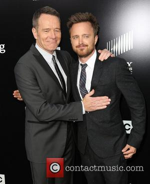 BRYAN CRANSTON and AARON PAUL - AMC celebrates the final episodes of 'Breaking Bad' at Sony Pictures Studios in Culver...