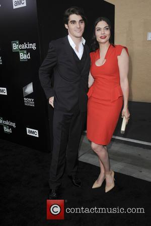 RJ Mitte and Jodi Lyn O'Keefe - AMC celebrates the final episodes of 'Breaking Bad' at Sony Pictures Studios in...