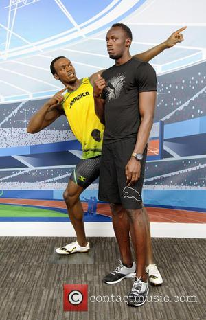Usain Bolt - Sprinting superstar and Olympic gold medalist, Usain Bolt, saw double when he came face-to-face with his Madame...