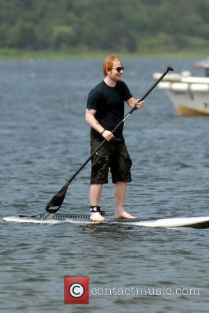 Ed Sheeran - Taylor Swift and her musician pal Ed Sheeran go paddleboarding with their families near Taylor's home on...