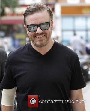 Ricky Gervais - Celebrities at the BBC Radio 2 studios